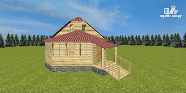 Фото 2: проект дом с крытой террасой-эркером