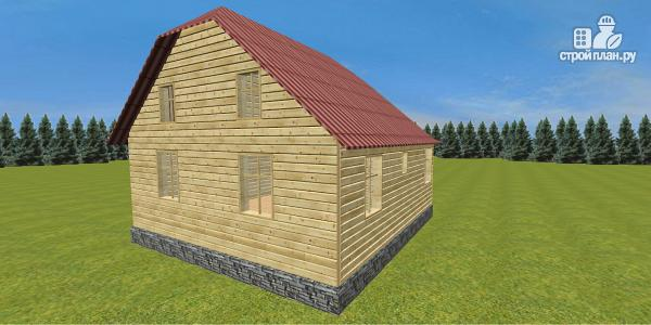 Фото 6: проект дом с крытой террасой-эркером