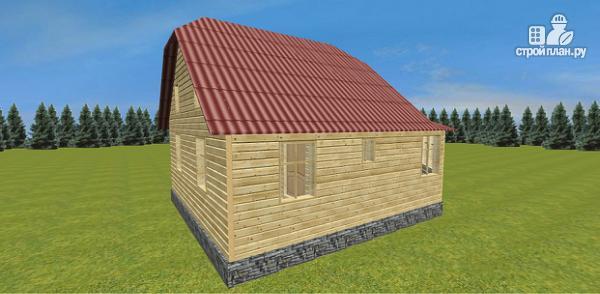 Фото 5: проект дом с крытой террасой-эркером