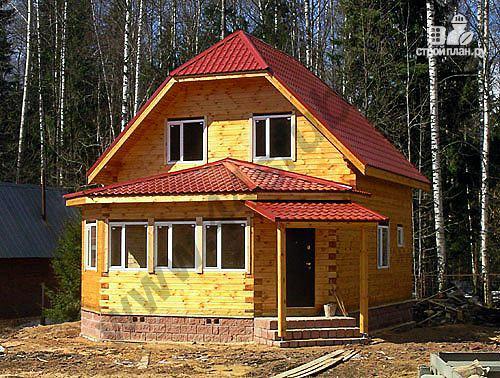 Фото: проект дом с крытой террасой-эркером