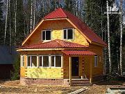 Проект дом с крытой террасой-эркером