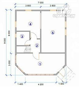 Фото 9: проект дом с крытой террасой-эркером