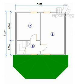 Фото 10: проект дом с крытой террасой-эркером