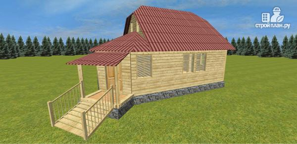 Фото 8: проект дом с крытой террасой-эркером