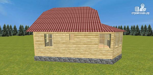 Фото 4: проект дом с крытой террасой-эркером