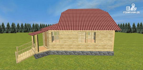 Фото 7: проект дом с крытой террасой-эркером