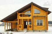Фото: дом из бруса с навесом для гаража