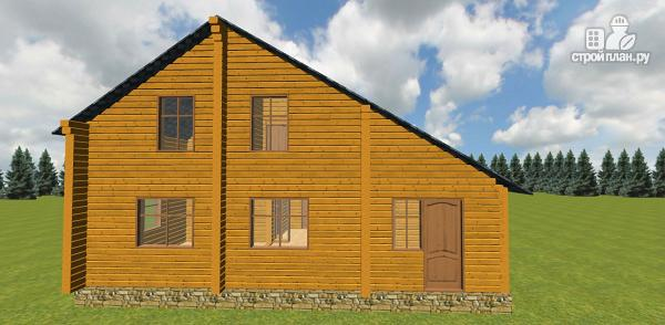 Фото 7: проект дом из бруса с навесом для гаража