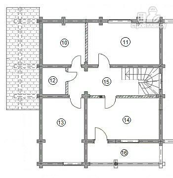 Фото 10: проект двухэтажный дом из бруса с двумя входами