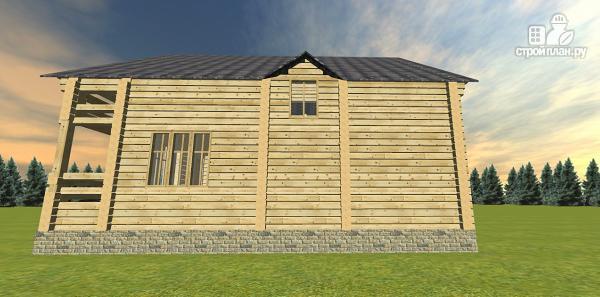 Фото 8: проект двухэтажный дом из бруса с двумя входами