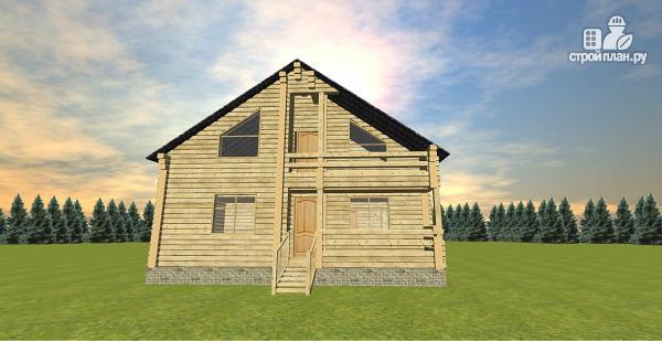 Фото 3: проект двухэтажный дом из бруса с двумя входами