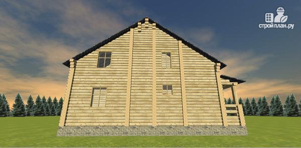 Фото 7: проект двухэтажный дом из бруса с двумя входами