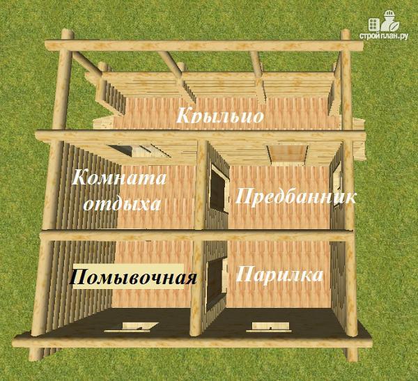 Фото 6: проект баня из бревна