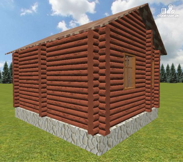 Фото 2: проект баня из бревна