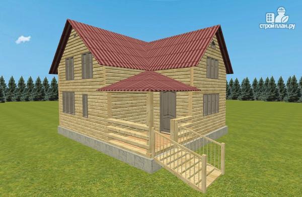 Фото 9: проект дом из бруса 8х8