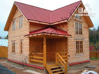 Фото: проект дом из бруса 8х8
