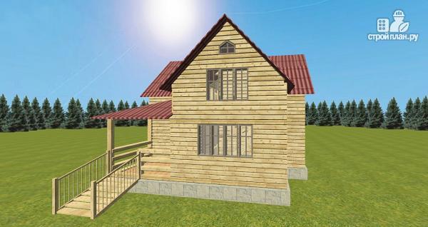 Фото 10: проект дом из бруса 8х8