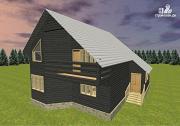 Проект дом со вторым светом