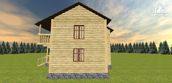 Фото 5: проект дом с большой открытой террасой и балконом