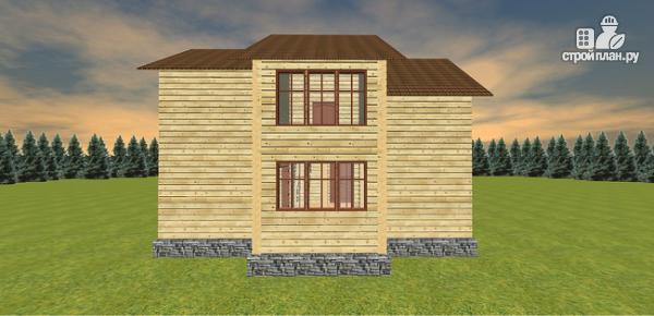 Фото 7: проект дом с большой открытой террасой и балконом