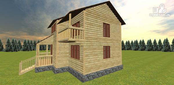 Фото 4: проект дом с большой открытой террасой и балконом