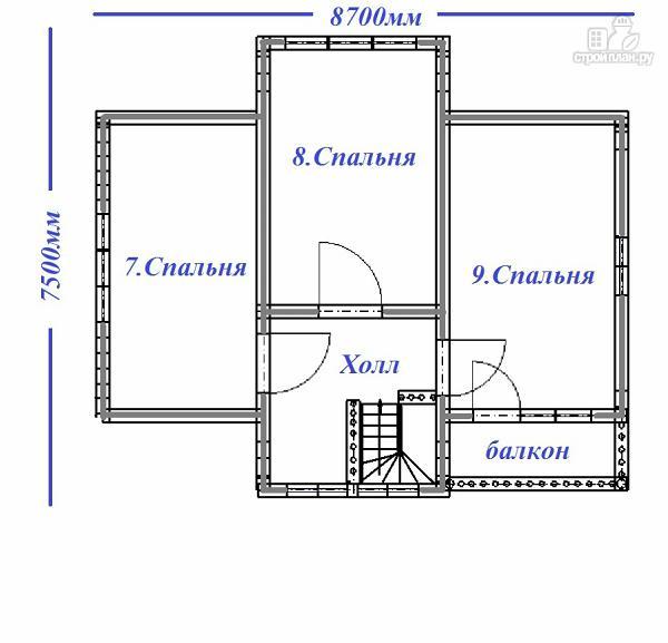 Фото 10: проект дом с большой открытой террасой и балконом