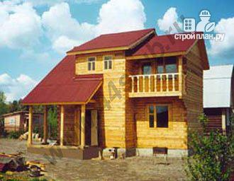 Фото: проект дом с большой открытой террасой и балконом