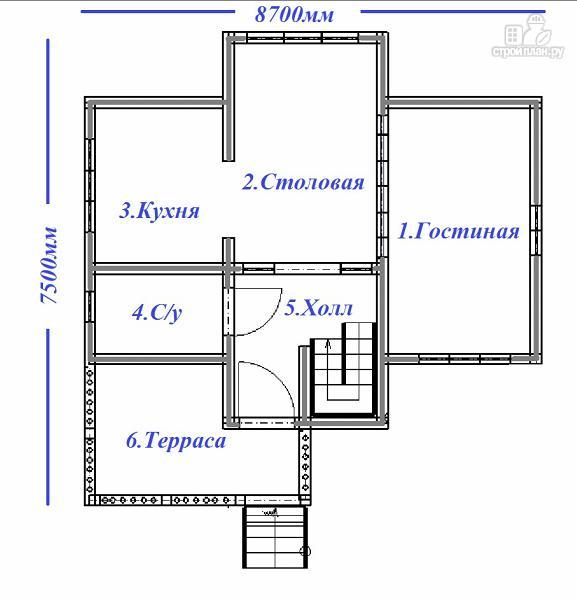 Фото 9: проект дом с большой открытой террасой и балконом