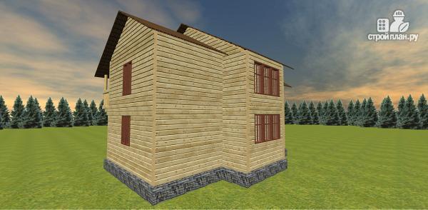 Фото 6: проект дом с большой открытой террасой и балконом
