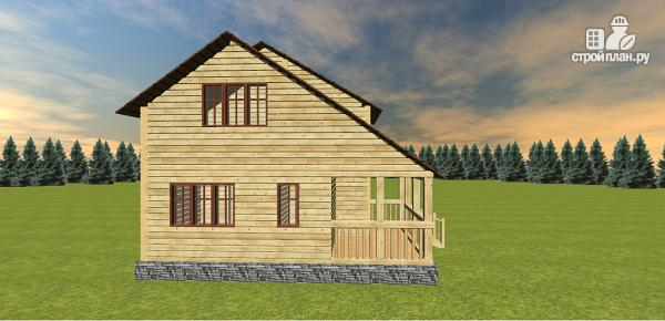 Фото 8: проект дом с большой открытой террасой и балконом