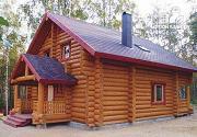Фото: дом-баня из бревна с бильярдной 6х10
