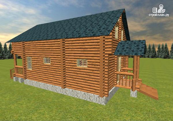 Фото 5: проект дом-баня из бревна с бильярдной 6х10