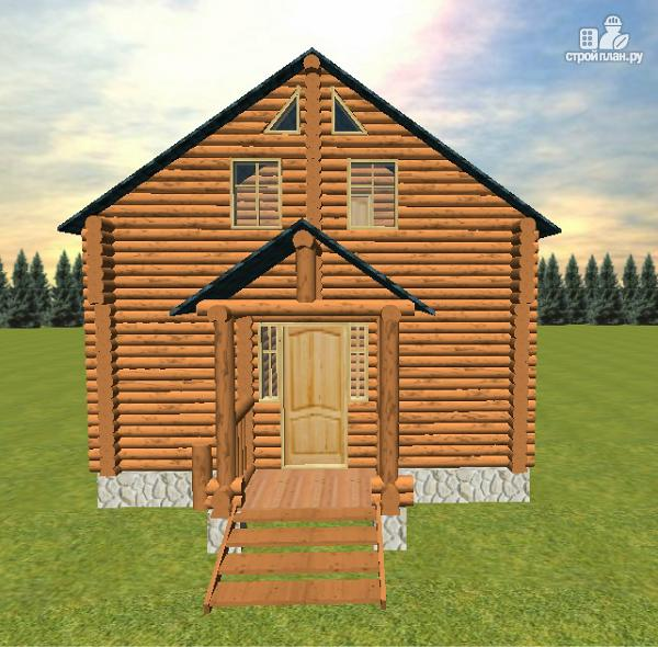 Фото 4: проект дом-баня из бревна с бильярдной 6х10
