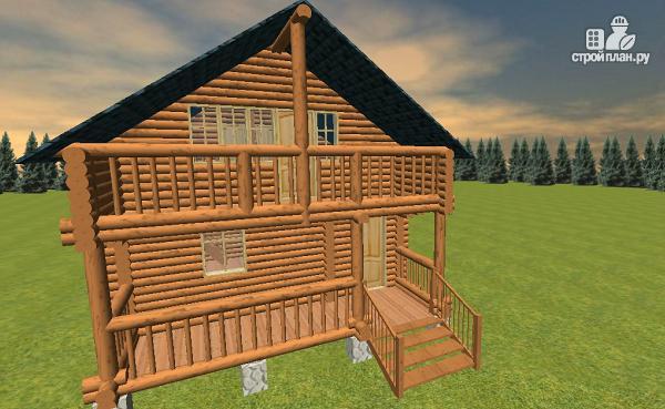 Фото 3: проект дом-баня из бревна с бильярдной 6х10