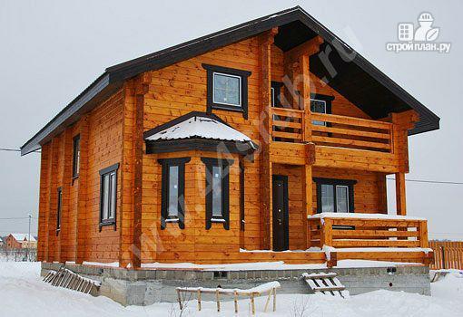 Фото: проект дом со вторым светом и эркерной гостиной