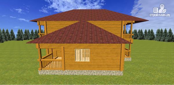 Фото 4: проект дом из бруса с балконами