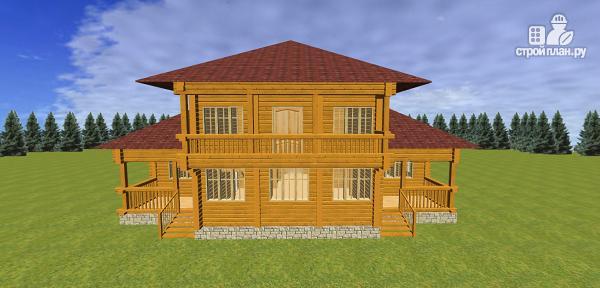 Фото 6: проект дом из бруса с балконами