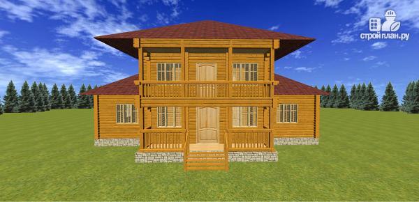 Фото 2: проект дом из бруса с балконами