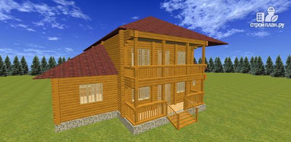 Фото 3: проект дом из бруса с балконами