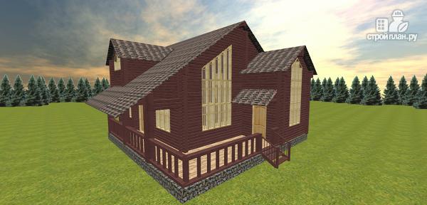 Фото 2: проект респектабельный дом со вторым светом