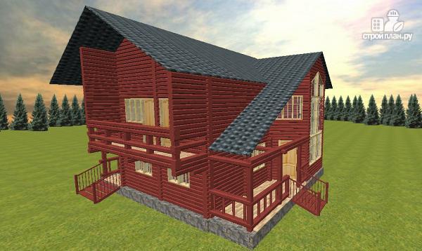 Фото 3: проект дом с эркерной гостиной и вторым светом
