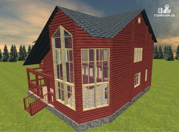 Фото 8: проект дом с эркерной гостиной и вторым светом