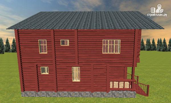Фото 5: проект дом с эркерной гостиной и вторым светом
