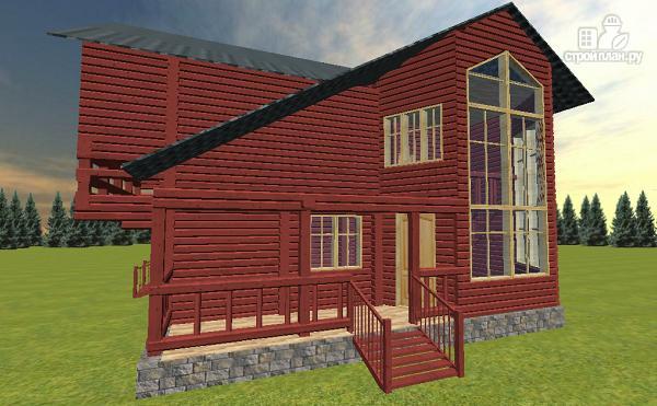 Фото 2: проект дом с эркерной гостиной и вторым светом