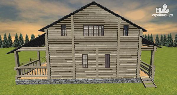 Фото 5: проект дом из бруса, с эркерами