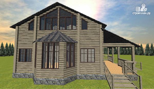 Фото 8: проект дом из бруса, с эркерами