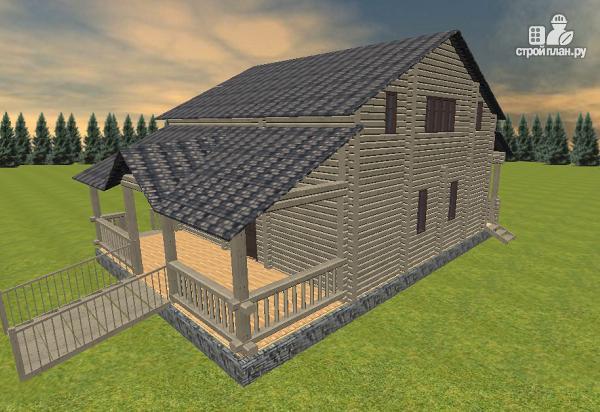 Фото 6: проект дом из бруса, с эркерами