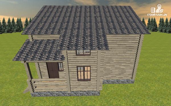 Фото 3: проект дом из бруса, с эркерами