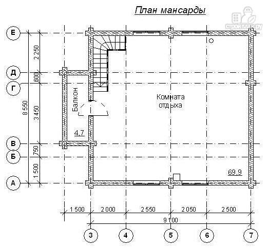 Фото 3: проект баня бревенчатая 12х8.5 с хамамом