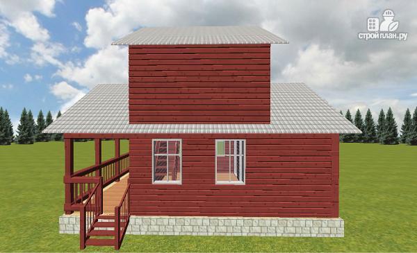 Фото 3: проект гостевой домик-баня 6х8 из бруса